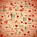 Seamless pattern love Stock Image