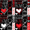 Seamless pattern of love Royalty Free Stock Images