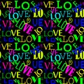Seamless pattern with love. Abstract Heart-shaped background.