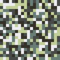 Seamless pattern made of colorful squares in shades of muted green and white rotated by 90 degrees Royalty Free Stock Photo