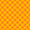 Seamless pattern made fun colorful yellow pink floral sun like symbol over orange background gingham illusion great floral Stock Photography