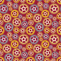Seamless pattern made gears Stock Photography