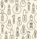 Seamless pattern made of lightbulbs