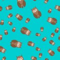 Seamless pattern made of owls