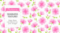 Seamless Pattern with Magnolia Royalty Free Stock Photo