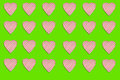 Seamless pattern: many abstract sweet hearts