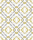 Seamless pattern with many intersecting lines and corners. Chain of geometric shapes