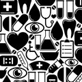 Seamless pattern with medical icons vector illustration Stock Photos