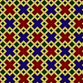 Seamless pattern, medieval stained-glass window style Royalty Free Stock Photo