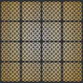 Seamless pattern. Modern geometric texture in grey - golden color. Repeating stylish tiles of squares Royalty Free Stock Photo