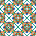 Seamless pattern of moroccan mosaic colorful Stock Photos