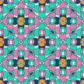 Seamless pattern of moroccan mosaic colorful Stock Photo