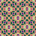 Seamless pattern of moroccan mosaic colorful Royalty Free Stock Photos