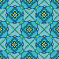 Seamless pattern of moroccan mosaic turquoise Royalty Free Stock Photo