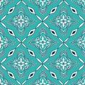 Seamless pattern of moroccan mosaic turquoise Royalty Free Stock Image