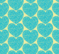 Seamless pattern with mosaic hearts decorative doodle texture Royalty Free Stock Photo