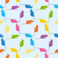 Seamless pattern with mouses Royalty Free Stock Image