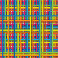 Seamless pattern of multicolor bands twisted Stock Photo