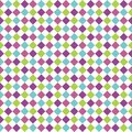 Seamless pattern with multicolored rhombuses Stock Photos