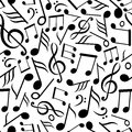 Seamless pattern with music notes Royalty Free Stock Photos