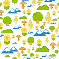 Seamless Pattern Of Nature