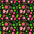 Seamless pattern with nature elements Royalty Free Stock Photo
