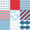 Seamless pattern with nautical elements Royalty Free Stock Image