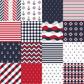 Seamless pattern with nautical elements Stock Image