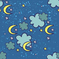 Seamless pattern night sky Royalty Free Stock Image