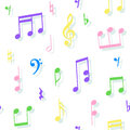 Seamless pattern of notes