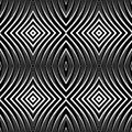 Seamless pattern in op art design vector graphic no gradient Stock Image