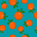 Seamless Pattern ,Orange on Azure Background Royalty Free Stock Photo