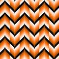 Seamless pattern with orange zigzag elements