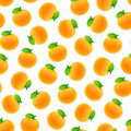 Seamless Pattern with Oranges Royalty Free Stock Photo