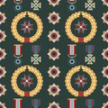 Seamless pattern with orders and medals