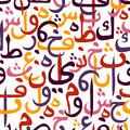 Seamless pattern ornament Arabic calligraphy style Royalty Free Stock Photo
