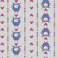 Seamless pattern with owls and hearts Royalty Free Stock Photos