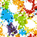 Seamless pattern with paint blobs Royalty Free Stock Photo