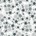 Seamless pattern with paint spots ink splashes Royalty Free Stock Photo