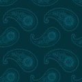 Seamless pattern paisley based on traditional asian elements Royalty Free Stock Images
