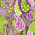 Seamless pattern paisley colorful background vector illustration Royalty Free Stock Photos