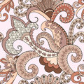 Seamless Pattern With Paisley,...