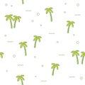 Seamless pattern palm tree