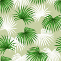 Seamless pattern with palms leaves. Decorative image tropical leaf of palm tree Livistona Rotundifolia. Background made Royalty Free Stock Photo