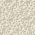 Seamless pattern with paper swirls Royalty Free Stock Photo