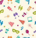 Seamless Pattern Of Party Colo...