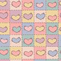 Seamless pattern with patchwork hearts Stock Photos