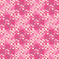 Seamless pattern patchwork with hearts for textiles interior design for book design website background Royalty Free Stock Photo