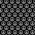 Seamless pattern with peace signs. Background for kid and adult textile, pajama, paper print, card other design. Hippie