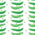 Seamless pattern with peas.